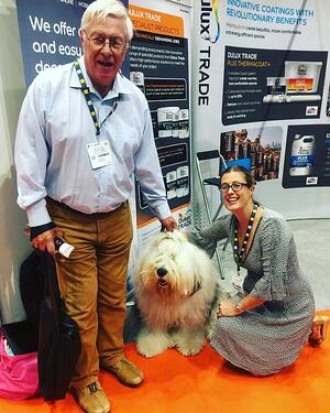 Accord Housing board member, Azeus Convene's Gemma Walford and a cute dog.