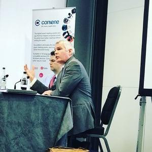 Professor Michael Dougan and Paul Butcher, Brexit Director at ICSA 2018